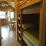 bunk beds and living area