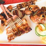 grilled meats.