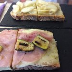 La bruschetteria pane e pomodoro Foto