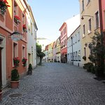 Pension Na Hradbach is located in this quiet charming street in central Olomouc