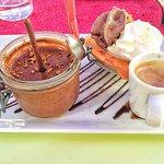 brochette de poulet , purée - mousse Nutella. Un délice