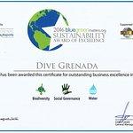 Sustainability Award for Dive Grenada 2016