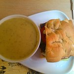 Soup of the day and focaccia