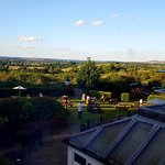 View from the rooms overlooking surrounding countryside .