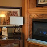 In room fireplace (King mini-suite)