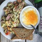 Green eggs and ham.  Yumm