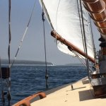 Sailing from Northeast Harbor, ME, on the Helen Brooks.