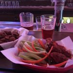Excellent chicken wings and IPA