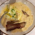 """Pig and Grits"" breakfast plate"