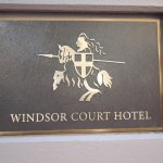 Windsor Court Hotel plaque