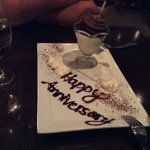 Dessert was soooo good, wait staff overheard we were there for our anniversary. Wife loved it.