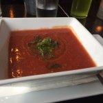 Seasonal gazpacho was fresh, crisp, and well-balanced