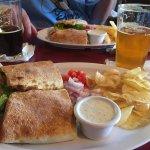 Turkey-Bacon-Cheddar Sandwich @ Saw Tooth Roadhouse