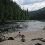 "This ""beach"" area on the Clearwater River was just down the road."