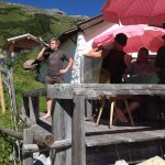 lunch in the mountain hut