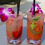 Drinks served poolside at Trump Waikiki