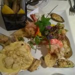 Seafood sharing platter especially prepared for us.