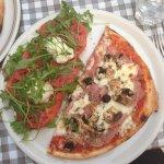 Demi-pizza salade : Un délice