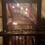 Interior stair case... original wooden frames