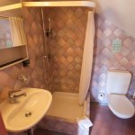 The bathroom in room no 326 was cramped.