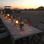 Airstrip dinner arranged for a birthday