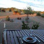 outdoor dinner on the verandah