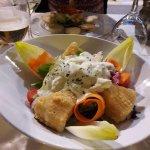 Entrée - salade de poulet et provolone