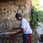 Pizza with Gabriel at Corzanello