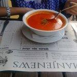 яркий томатный суп с брынзой - порция летнего позитива!)