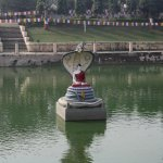 Buddha idol in the pond. King Naga protecting him while on meditation.
