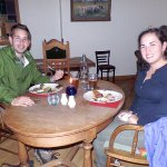 We kept meeting other visitors to town —this is John and Charlotte, who had a great dinner, too