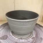 My friend made his bowl in the pottery class. She is an experienced potter, so results not typic