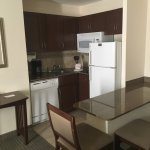 Kitchen with full-size appliances - including dishwasher and dining table!