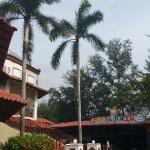 near the restaurant and fun fair area (close to private beach)