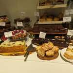 display of cakes