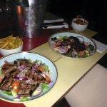 Steak and mushrooms salad