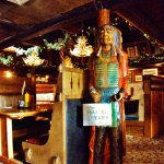 wooden Indian by cash register