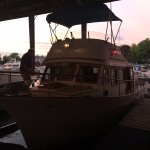 The Wooden Boat Inn's boat at the Marina