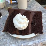 Huge slice of chocolate cake!