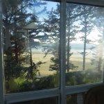 view from sun room toward beach