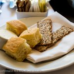The Compound Restaurant - bread and crackers
