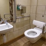 Downstairs disabled toilet