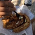 Chicken and Waffles at Al Fresco Food Trailers, Pensacola FL