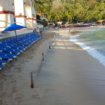 quiet a narrow beach, but nice sand