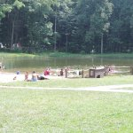 Swimming area in summer.