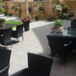 Some of the beautiful flowers in the Garden Bistro during summer 2016
