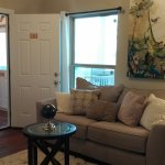 Sample Pool House Suite: living room