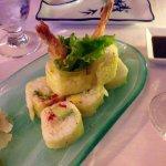 Delicieux sushis aux crevettes