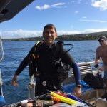 Just getting out of my second dive wet and happy with a stupid face! :-)