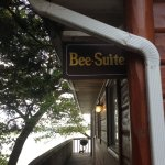 The top entrance to Bee-Suite-this is steps away from parking.